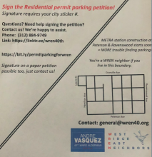 WREN Residential Permit Parking Petition Notice