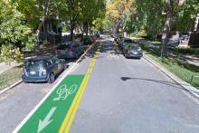 Glenwood Greenway Reverse Bike Lane
